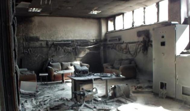 PKK, Kars'ta HES sistem odasını ateşe verdi