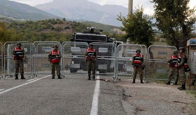 Tunceli'de şehre giriş çıkışlara yine yasak