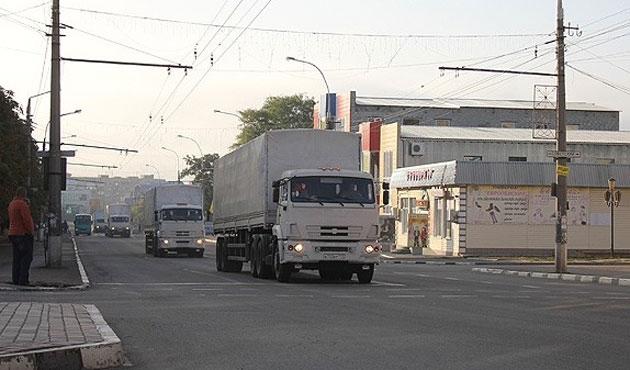 Ukrayna'ya 43 Rus askeri kamyonu girdi