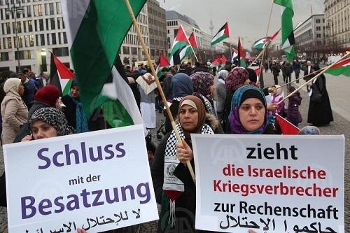 Almanya'da İsrail protesto edildi