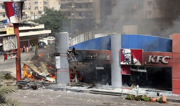 Mısır'da restoran ateşe verildi, bir kişi öldü