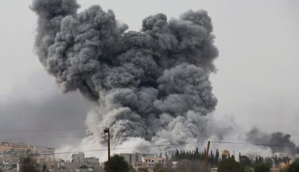 Suriye'de askeri bina havaya uçuruldu