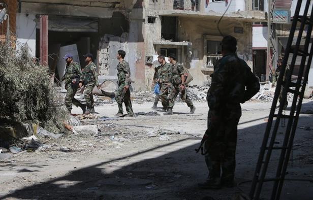 Suriye rejim güçleri muhaliflere saldırdı