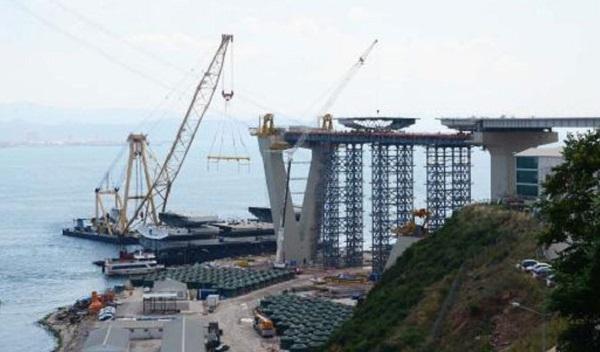 Körfez Köprüsü'nde yeni aşamaya geçildi