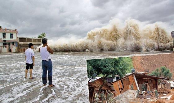 Çin'de tayfun yüzünden 31 bin tahliye