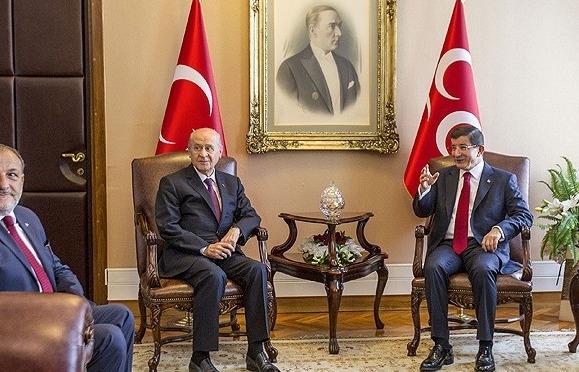 Ak Parti-MHP görüşmesi 1 saat 45 dakika sürdü