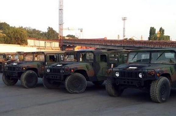 ABD'den Ukrayna'ya askeri araç sevk edildi
