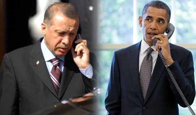 Erdoğan ve Obama telefonda IŞİD'i konuştu