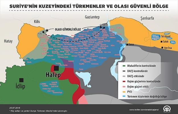 Türkmen'ler için güvenli bölge