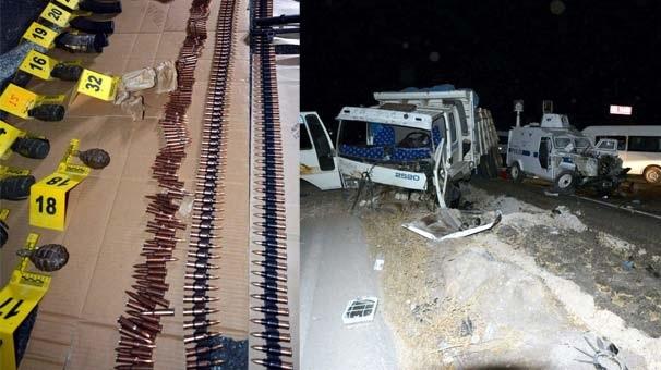 Mardin'de bir minibüsten cephanelik çıktı