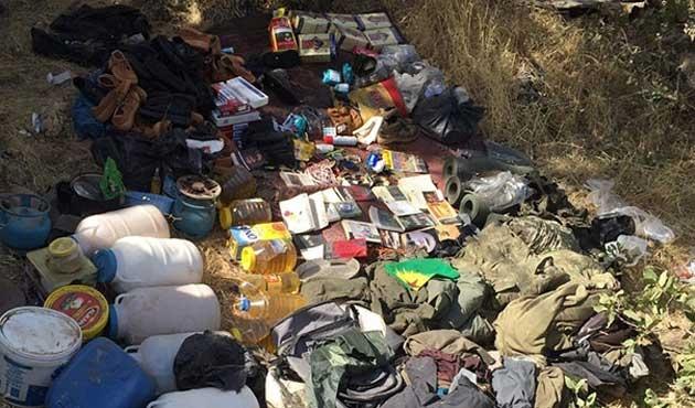 PKK'nın 5 odalı büyük sığınağı bulundu