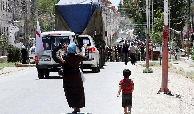 Esad rejiminden insani yardım konvoyuna engel