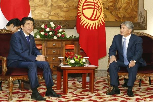 Japonya Başbakanı Abe Kırgızistan'da