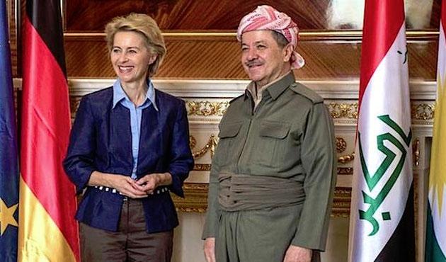Alman Savunma Bakanı Leyen Erbil'de