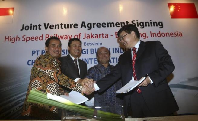 Çin ile Endonezya arasında hızlı tren anlaşması yapıldı