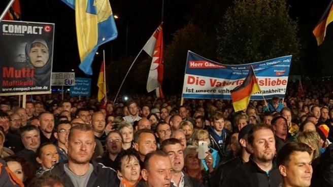 Alman populist partinin gösterilerine katılım azaldı