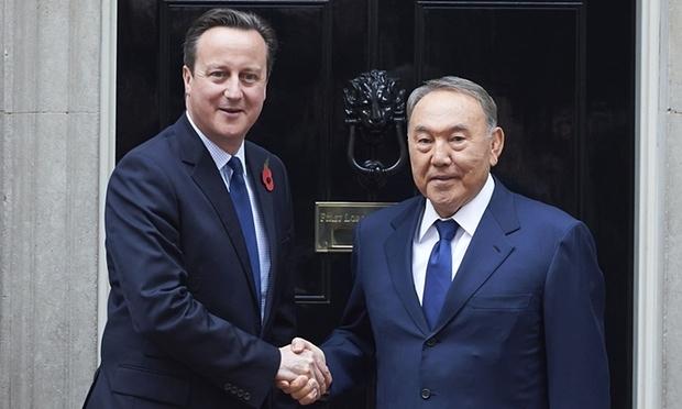 Nazarbayev İngiltere'de
