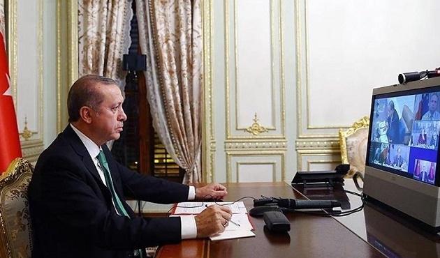 Erdoğan beş liderle telekonferans ile görüştü