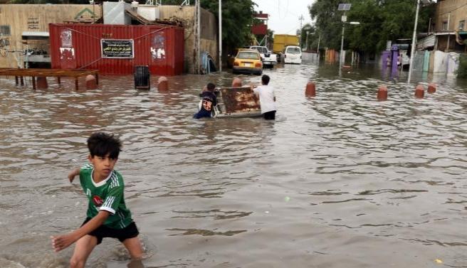 Erbil'deki sığınmacılar sel mağduru