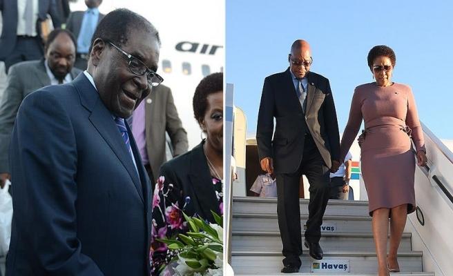 Güney Afrika ve Zimbabve Devlet Başkanları Türkiye'de