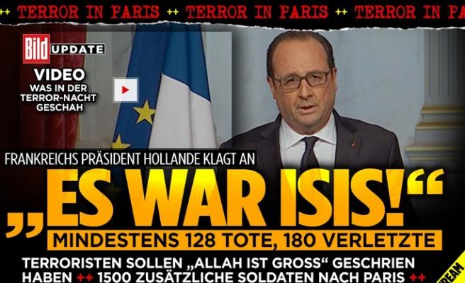 Alman basını Paris saldırılarına geniş yer verdi