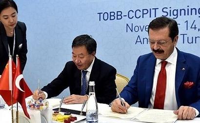 TOBB ile Çin Ticaret Konseyi arasında anlaşma
