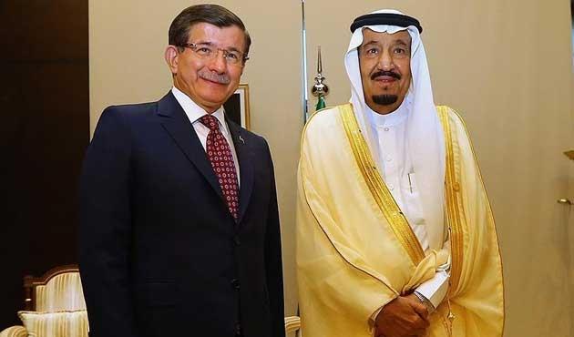 Başbakan Davutoğlu, Suud Kralı ile görüştü