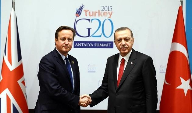 Cumhurbaşkanı Erdoğan, Cameron'ı kabul etti