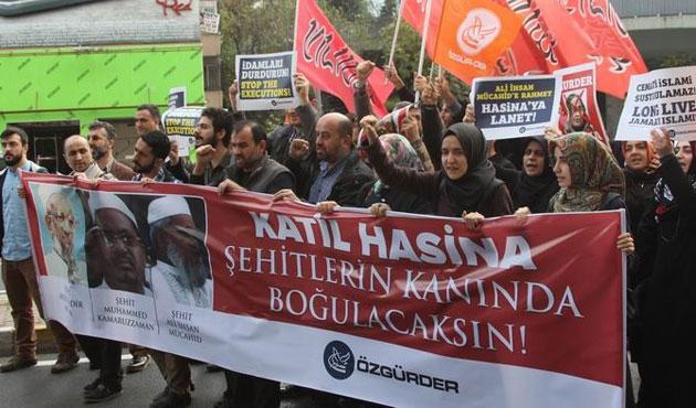 İstanbul'da Bangladeş'e idam protestosu