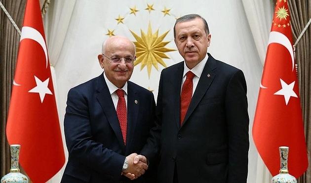 Erdoğan TBMM Başkanı Kahraman'ı kabul etti
