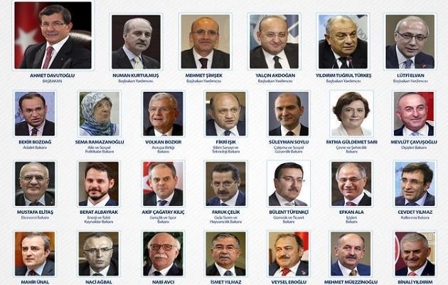 Kabine listesi Resmi Gazete'de