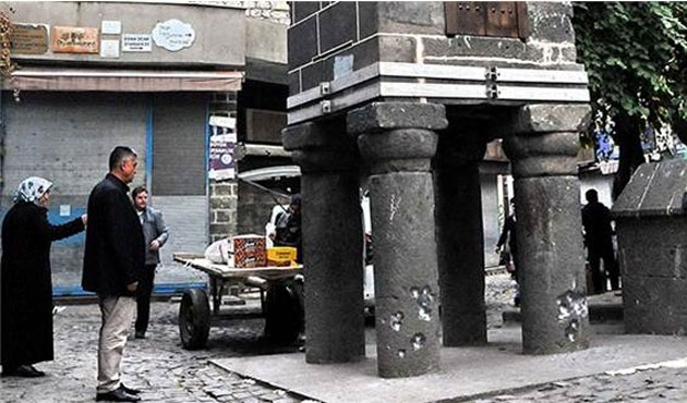 Diyarbakırın tarihi simgesi çatışmada zarar gördü