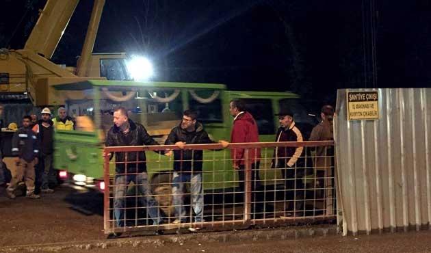 Üsküdar'da metro inşaatında iş kazası