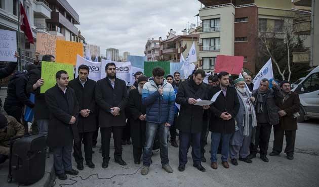 Bangladeş Büyükelçiliği önünde idam protestosu
