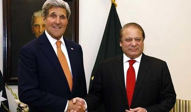 Pakistan Başbakanı Şerif, Kerry ile görüştü