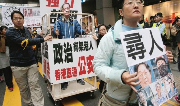 Hong Kong'da 'kayıp kitapçı' eylemi