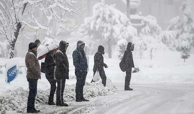 Doğu'da sıcaklık eksi 22 dereceye düştü