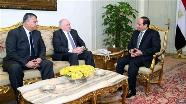 Mısır Cumhurbaşkanı CIA şefiyle görüştü