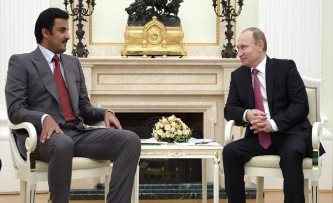 Katar Emiri, Putin ile görüştü