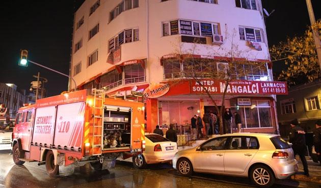 Suriyelilerin kaldığı binada yangın