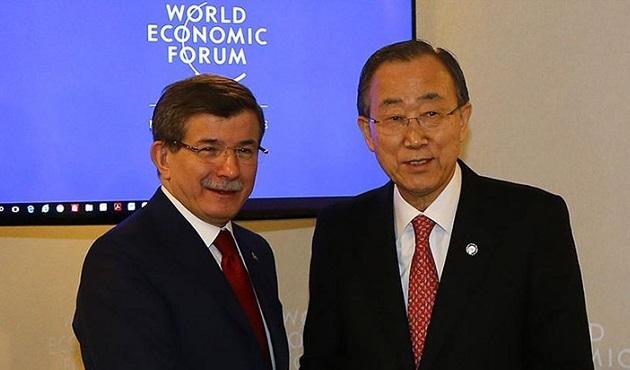 Başbakan Davutoğlu, Ban Ki-mun ile görüştü