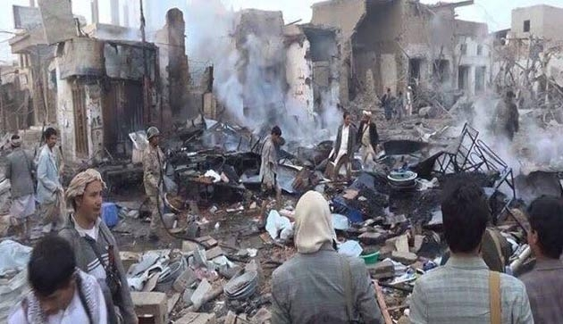 Yemen'e koalisyon saldırısı: 18 ölü