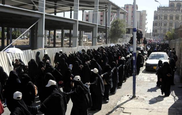 Yemen'de sivil ölümlere protesto