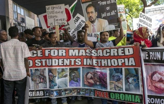 Güney Afrika'da Etiyopya protestosu