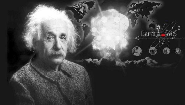 Einstein ile kör adam