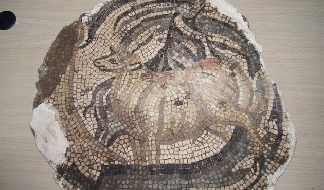 Sur'da 5 bin yıllık mozaik ele geçirildi