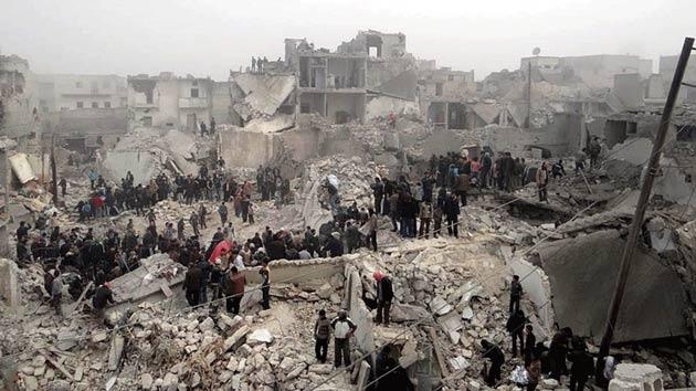 Lübnan'da Halep protestosu
