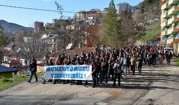Erzincan ve Tunceli'de HES protestosu