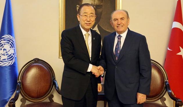 Ban-Ki Moon, Kadir Topbaş'la görüştü