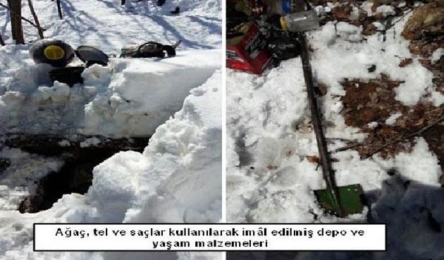 Tunceli'de PKK'ya ait 11 depo bulundu